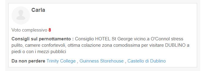 Citazione Hotel su Blog