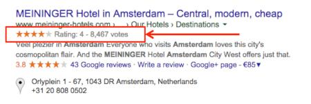 esempio rich snippet hotel